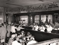 Came accross this cool picture of La Florida. The bar were Daiquiri was created,. Vintage Cuba, Vintage Havana, Vintage Photos, Famous Cubans, Cuba Culture, Cuban People, Visit Cuba, Havana Nights, Havana Cuba