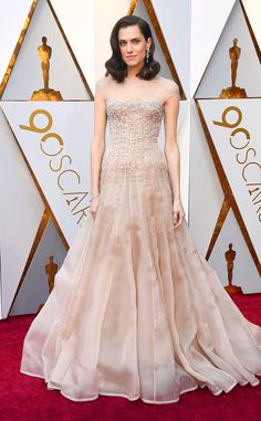 Allison Williams from Standout Style Moments From Oscars 2018  The Get Out star looked like a modern bride in a blush, beaded Armani Privé confection that any bride would be proud to wear.