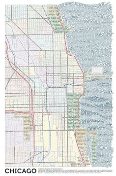 Chicago Map in Words