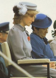 April 25, 1983:  Princess Diana attends the Anzac Day Remembrance Ceremony at the War Memorial in Auckland, to commemorate the landing of the Australian and New Zealand Army Corps (ANZAC) at Gallipoli, Turkey, during World War I in 1915