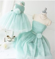 Fluffy Lavender/Tiffany Blue handmade wedding bridemaid/flower girl princess dress Size Adult and kids made by order on Etsy, $80.00