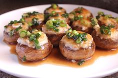 From Food Endeavours of the Blue Apocalypse:   Stuffed Mushrooms with Prawn Filling and Oyster Sauce