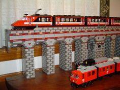 European Style Train Bridge: A LEGO® creation by Mark Plum : MOCpages.com