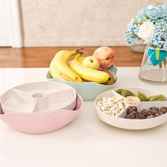Snacks Fruit Storage Boxes Wheat Straw Divided Food Tray Finisher Holder Home Organizer Accessories Supplies Gear Stuff Product