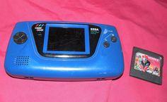 Sega Game Gear Blue Handheld System With Shinobi II #Sega #retrogaming