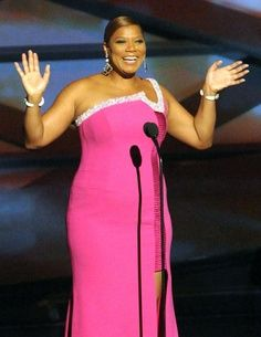 Queen Latifah/....fits in so many different categories. Love this pink dress on her.