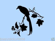 Vintage Bird Stencil   CROW-STENCIL-BIRD-BRANCH-LEAVES-LEAF-STENCILS-FLEXIBLE-TEMPLATE-NEW-7 ...