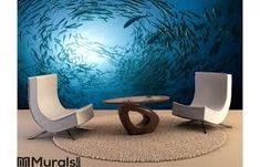 ocean wallpaper murals - Google Search Ocean Wallpaper, Wallpaper Murals, Ocean Mural, Egg Chair, White Wood, Floor Chair, Wicker, Seaside, Furniture
