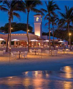 Dinner on the beach in Florida