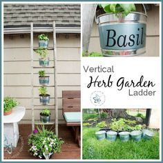 Build a vertical herb garden. This is a great spring and summer outdoor inspiration project that @designeddecor shares a tutorial for! http://www.rustoleum.com/product-catalog/consumer-brands/universal/universal-matte-spray-paint