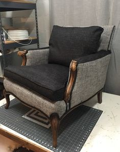 Blue Roof Cabin Upholstery Studio is located Inside the Cota Street Emporium at 114 W Cota St, Shelton W. Chair Upholstery, Chair Fabric, Upholstered Furniture, Furniture Chairs, Funky Furniture, Furniture Styles, Furniture Outlet, Home Decor Items, Cheap Home Decor
