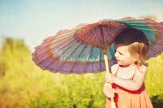 Children Photography - Parasol
