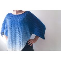 Crochet Poncho Patterns, C2c Crochet, All Free Crochet, Crochet Shawl, Sweater Patterns, Double Crochet, Crochet Wraps, Simple Crochet, Crochet Shrugs