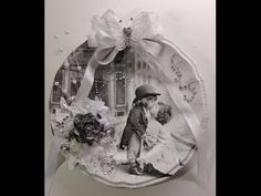 Romantic plate decorated with a napkin and Wild Orchid Crafts beautiful flowers - YouTube