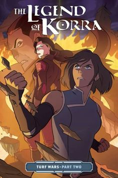 OMG! This is the supposedly cover for #TurfWarsPart2 of The Legend of Korra graphic novels. #LOK #Korra #AvatarKorra #Asami #Korrasami #NewVillain