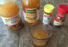 Recipe: 2 tbsp ACV 1 tsp cayenne 1 tsp cinnamon 1/4 cup apple juice Water (as needed for dilution)