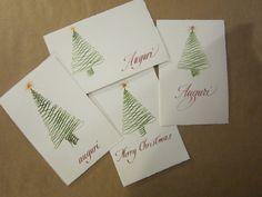 Xmas tree, Xmas cards
