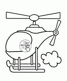 Helicopter Flying Coloring Page For Toddlers Transportation Pages Printables Free