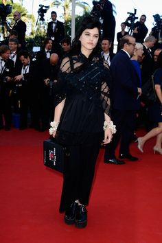 Soko attends the 'La Venus A La Fourrure' premiere during The 66th Annual Cannes Film Festival at Theatre Lumiere on May 25, 2013 in Cannes, France.