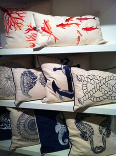Everything Coastal....: Coastal Decorating Trend: Nautical Anchors and Rope Patterns