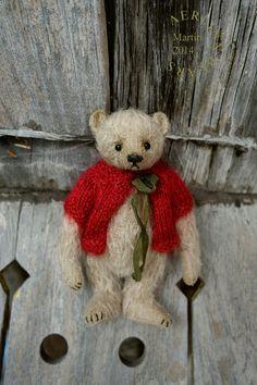 Martin, Miniature Mohair Artist Teddy Bear from Aerlinn Bears