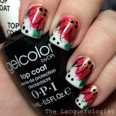 The Lacquerologist: #LLReflection: Seasonal Splash Foral inspired by Polished by Beckie!