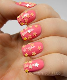 Totally having my nails done like this for my wedding except in different colors.  Neat!