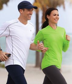 Coolibar sun protection women's running sport t-shirts: light, breathable, fast drying and UPF 50+