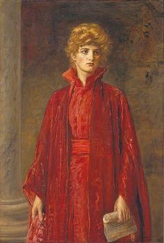 Sir John Everett Millais P.R.A. (1829-1896) Portia (Kate Dolan) 1886.  The Metropolitan Museum of Art, New York. Catharine Lorillard Wolfe Collection, Wolfe Fund. He was one of the original members of The Artists Rifles.