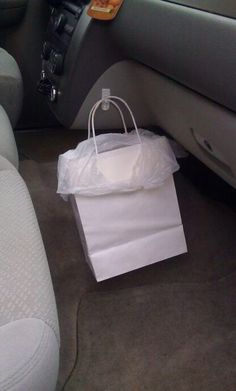 How to keep your car trash can from falling over