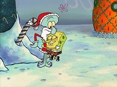 Rodger Bumpass as Squidward Tentacles in The SpongeBob SquarePants Christmas Spe. : Rodger Bumpass as Squidward Tentacles in The SpongeBob SquarePants Christmas Spe. Xmas Wallpaper, Cute Christmas Wallpaper, Cartoon Wallpaper Iphone, Cute Cartoon Wallpapers, Spongebob Christmas, Christmas Cartoons, Christmas Christmas, Spongebob Memes, Spongebob Squarepants