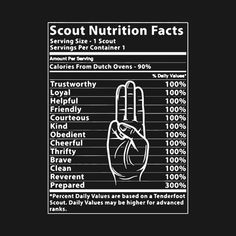 Shop Boy Scout Nutrition Label Funny T-Shirt boy scouts t-shirts designed by 55072040 as well as other boy scouts merchandise at TeePublic. Cub Scouts Wolf, Tiger Scouts, Boy Scouts, Cub Scout Shirt, Girl Scout Shirts, Girl Scout Leader, Girl Scout Troop, Scout Quotes, Eagle Scout Ceremony