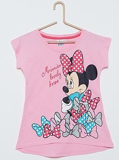 Camiseta de algodón 'Minnie Mouse' Toddler Outfits, Outfits For Teens, Boy Outfits, Mickey Mouse T Shirt, Minnie Mouse, Kids Vest, Night Suit, Movie Tees, Disney Outfits