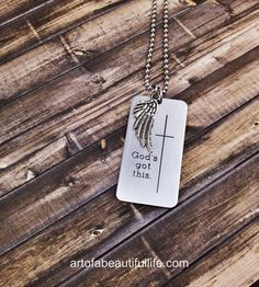 He's already there. | Christian Jewelry - God's Got This Faith Necklace by simplytopaz - A beautiful reminder to trust.