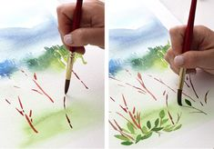 Watercolor Tutorial part 3 - Mark Making...... another great tutorial ! Helpful tips for beginners as well as experienced painters.