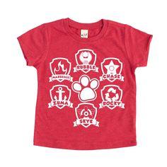 SHOP SMALL Paw patrol tee shirt for kids tshirt for kids kids fashion // Paw Patrol Badge, Paw Patrol Shirt, Paw Patrol Pups, Paw Patrol Party, Paw Patrol Birthday, Old Fashioned Boy Names, Urban Tees, Baby Boy Shirts, Mom Shirts