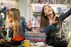 Sabrina Carpenter and Rowan Blanchard on 'Girl Meets World.'