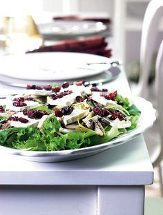 Sieni-vuohenjuustosalaatti   K-ruoka #joulu