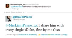 Danielle's so nice! But that must be awkward, that Fans Twitter name is Danielle future name! (: xx