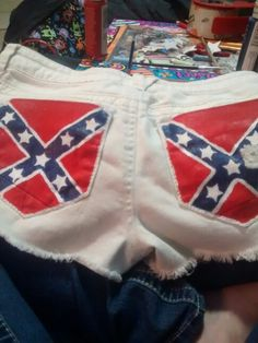 Rebel flag shorts, took an older set of my white shorts and brought them to life with some southern pride.