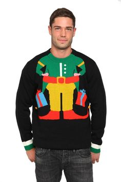 todaysinfo The 25 Absolute Best Ugly Christmas Sweaters You've Never Seen Before. Ode to the Ugly Christmas Sweater The holiday season is upon us, which means one thing: Ugly Christmas Sweater parties. Elf Christmas Jumper, Diy Ugly Christmas Sweater, Ugly Sweater Party, Christmas Jumpers, Christmas Crafts, Xmas Sweaters, Funny Christmas, Christmas Ideas, Xmas Elf
