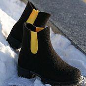 Felt Slippers, Felt Shoes, How To Make Shoes, Chelsea Boots, Shoe Boots, Ankle, Woman, Fashion, Moda