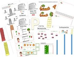 Italy PREK-Kinder unit - 117 pages and super cute!