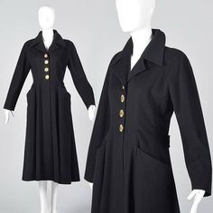 a16b68ee1bd XS Chanel Princess Coat Cashmere Winter Coat Fit and Flare Four Leaf Clover  Buttons Chanel Cashmere Princess Coat Vintage 1980s Designer 80s