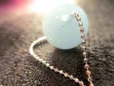 Sterling Silver aquamarine necklace larimar gemstones on multi layered 925 Sterling Silver chains made in Italy by TheVintageAdvantages on Etsy