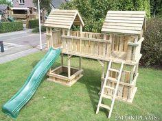 Backyard Fort, Backyard Playhouse, Backyard Sheds, Backyard For Kids, Kids Playset Outdoor, Kids Outdoor Playground, Diy House Projects, Backyard Projects, Tree House Plans