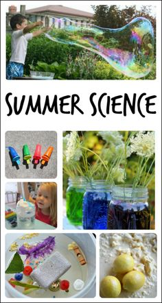 great round up of summer science experiments for kids from Fun-a-Day