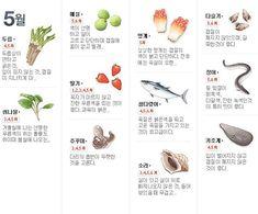 ◉ 월별 제철 음식 [출처]월별/사계절 제철 음식