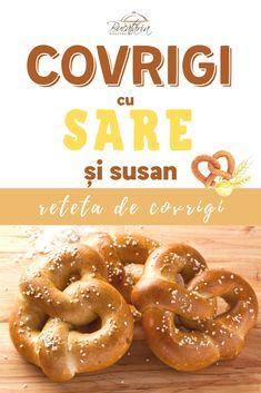 🏆 Covrigi cu sare și susan făcuți în casă   Rețetă pas cu pas Onion Rings, Ethnic Recipes, Food, Essen, Meals, Yemek, Onion Strings, Eten