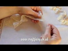 Video Tute -- Shabby Chic Lace Flower Tutorial by Yvonne Randall.